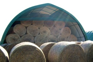 E serie opslag ronde balen